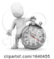 Cartoon 3d Man With Stopwatch