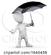 3d Little Person Under Umbrella