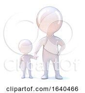 3d Parent And Child Hold Hands