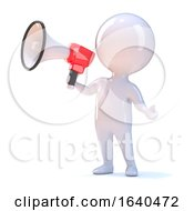 3d Little Person With Bullhorn