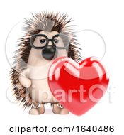 Poster, Art Print Of 3d Hedgehog Is In Love