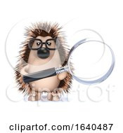 3d Hedgehog With A Magnifying Glass by Steve Young