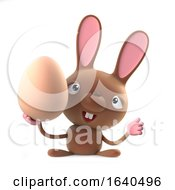 3d Cute Cartoon Easter Bunny Rabbit Holding An Egg by Steve Young