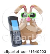 Poster, Art Print Of 3d Mobile Phone Bunny