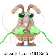Poster, Art Print Of 3d Easter Bunny Goes Green