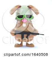 3d Soldier Bunny by Steve Young