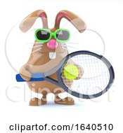 Poster, Art Print Of 3d Easter Bunny Tennis Star