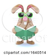 Poster, Art Print Of 3d Bunny Reads A Book