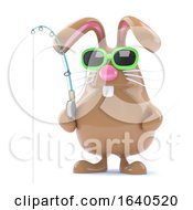 Poster, Art Print Of 3d Easter Bunny Fisherman