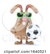 Poster, Art Print Of 3d Rabbit Football Star