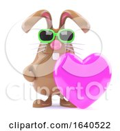 Poster, Art Print Of 3d Bunny Loves Pink
