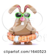 Poster, Art Print Of 3d Easter Bunny Lifesaver