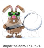 Poster, Art Print Of 3d Bunny Magnifies