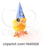 Poster, Art Print Of 3d Easter Chick Dunce
