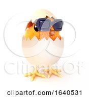 Poster, Art Print Of 3d Easter Chick Has Hatched