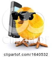 Poster, Art Print Of 3d Chick Chats On A Cellphone