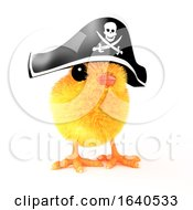 Poster, Art Print Of 3d Easter Chick In Pirate Hat