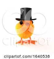 3d Easter Chick In Top Hat