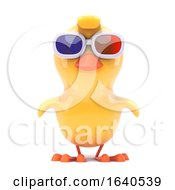 Chick Wears 3d Glasses