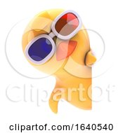 3d Baby Chick Wearing 3d Glasses