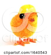 Poster, Art Print Of 3d Chick Wearing A Builders Hat