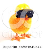 Poster, Art Print Of 3d Construction Chick In Sunglasses