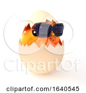 Poster, Art Print Of 3d Easter Chick Hatches Wearing Sunglasses