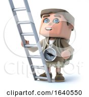 3d Hiker Kid Has A Ladder by Steve Young
