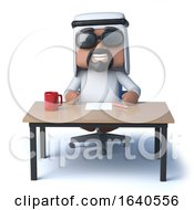 3d Arab Sheik Sits At A Desk by Steve Young