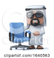3d Arab Has An Empty Office Chair by Steve Young
