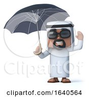 3d Arab Under An Umbrella by Steve Young