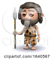 3d Caveman With Spear