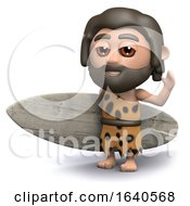 3d Caveman Is Going Surfing