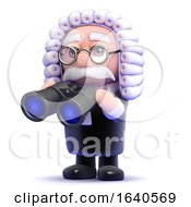 3d Judge With A Pair Of Binoculars