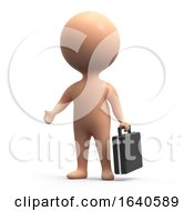 3d Human With Briefcase by Steve Young