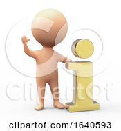 3d Man With Gold Information Symbol