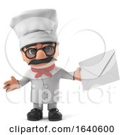 3d Funny Cartoon Italian Pizza Chef Character Has Mail by Steve Young