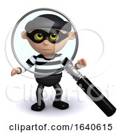 3d Burglar Under The Magnifying Glass by Steve Young