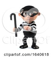 3d Funny Cartoon Burglar Character With A Crowbar by Steve Young