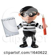 3d Burglar Takes Notes by Steve Young