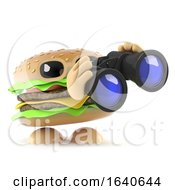 3d Burger With Binoculars by Steve Young