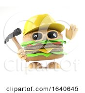 Poster, Art Print Of 3d Burger Builder