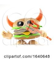 3d Devil Burger by Steve Young