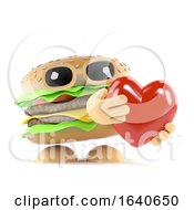 Poster, Art Print Of 3d Burger Love