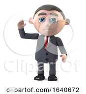 3d Businessman Waving Hello