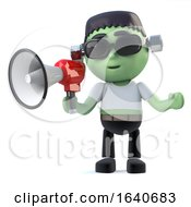 3d Child Frankenstein Monster Has A Loud Hailer