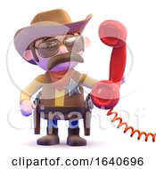 3d Cowboy Sheriff Answers The Phone by Steve Young