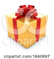 Poster, Art Print Of 3d Gold And Red Gift Box