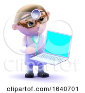 3d Doctor Using A Laptop