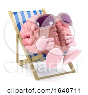 3d Sunbathing Brain by Steve Young